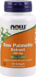 NOW Supplements, Saw Palmetto Extract (Serenoa repens) 160 mg, Men's Health*, 120 Softgels