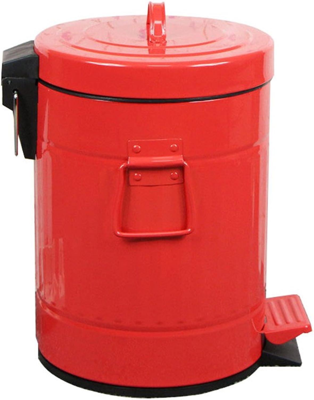 Trash Box ZWD Fuß Typ Mülleimer, Haushalt Große Kreativität Büro Fußspuren  Wohnzimmer Küche Badezimmer Schlafzimmer Vintage Mülleimer 5 12L Sammlung  12L) ...
