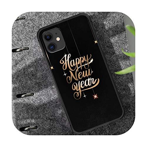 Nuevo año teléfono caso cubierta casco para iPhone 5 5s se 2020 6 s 7 8 12 mini plus X XS XR 11 PRO MAX negro tendencia Pretty-4-iphone 5 5s se