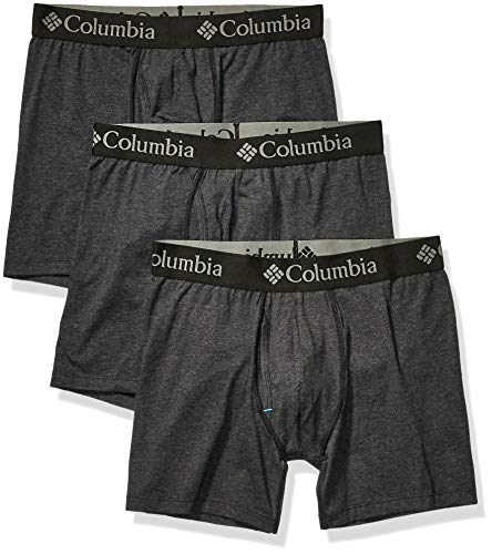 Columbia Men#039s Performance Cotton Stretch Boxer Brief3 Pack New Black Large