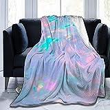 Manta de Franela Manta de sofá Manta de sofá Manta Personalizada Especial Ópalos Piedras Preciosas 50'x60' Manta de Cama para Todos los entornos