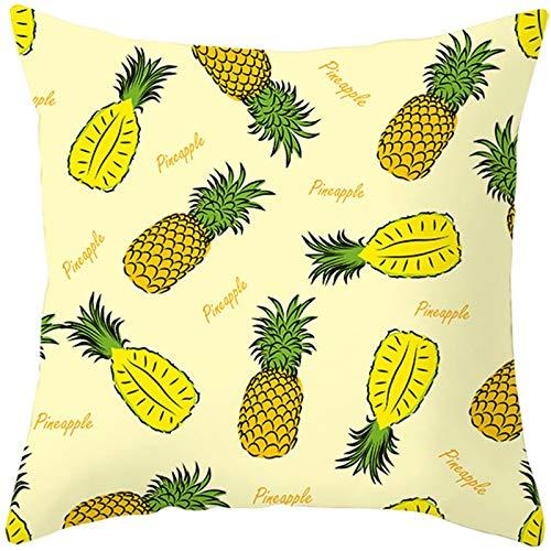 Socoz Fundas de almohada para niños, de poliéster y piña, color amarillo