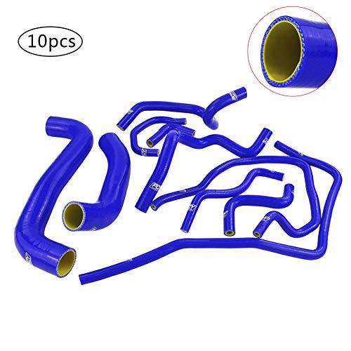 Turbo Intercooler Manguera de radiador Tubo de Silicona 10pcs Compatible con Subaru Impreza WRX 2.0T 2001 2002 2003 2004 2005 2006 EJ205 EJ20 GDB GD