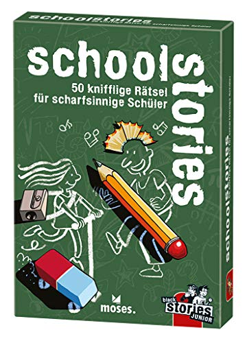 moses. black stories Junior school stories| 50 knifflige Rätsel für Schüler | Das Rätsel Kartenspiel für Kinder ab 8 Jahren