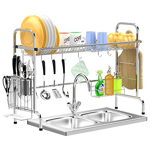 GSlife Stainless Steel Over The Sink Dish Drying Rack Only $28.79 (Retail $47.99)