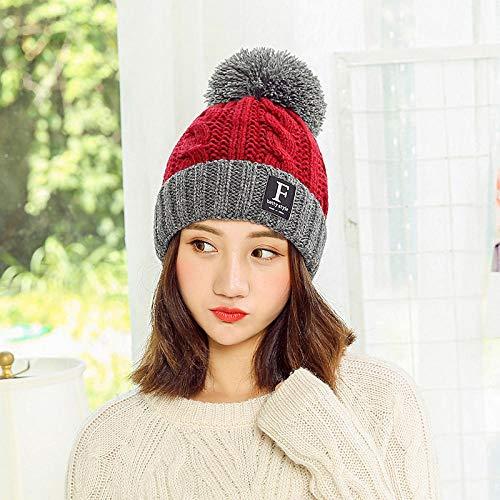 Women'S Caps Dames Winter Warme Hoeden Garen Cap Herfst en Winter Outdoor Mode Haar Bal Letters Oor Beschermers Winddichte Gebreide Hoed