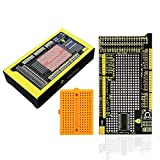 KEYESTUDIO MEGA Prototype Shield V3 Board for Arduino Mega 2560 with 170 Points Breadboard Solderable, Easy to Use, Great for Prototyping Circuit Building Projects