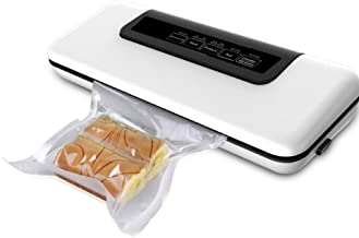 JIEGEGE Multi-Function Vacuum Sealer, Packer Automatic Vacuum Air Sealing Packing System, Food Preservation Dry, Moist, Delicate Soft Food with 12pcs Vacuum Bags