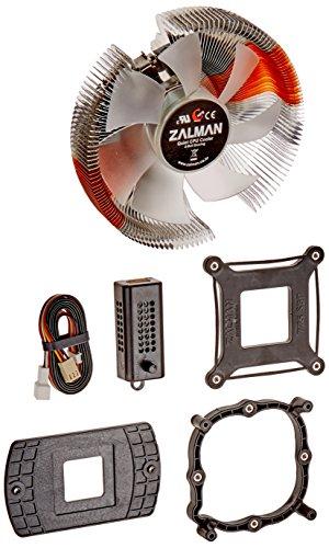 ZALMAN Computer Noise Prevention System with Silent Blue LED Fan, Aluminum and Copper Heatsink CPU Cooler CNPS7700-ALCU LED