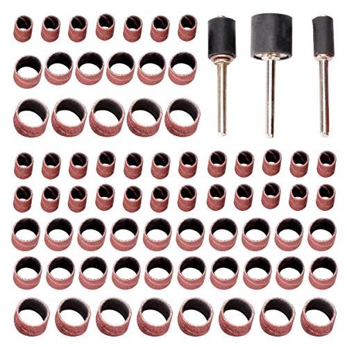 ULTECHNOVO 186pcs Professional Sanding Band Electric Grinder Sand Ring Bit Polisher Wheel Head Power Tools Accessories for Drum Sander