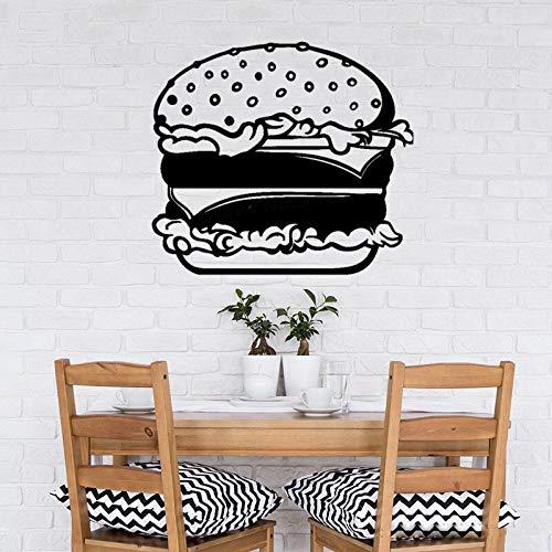 zqyjhkou Indoor Küche Dekoration Fastfood Hamburger Wandaufkleber Fenster Küche Kreative Muster Poster L71x79cm