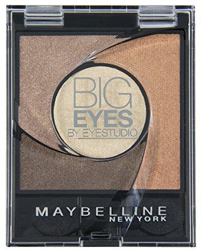 Maybelline New York Lidschatten Eyestudio Big Eyes Palette Brown 01 / Eyeshadow Set in Braun-Tönen mit Wet-Technologie und Perl-Pigmenten, 1 x 3,7 g