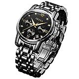 OLEVS 時計 メンズ 腕時計 うで時計 男性用 ビジネス ブランド メタルバンド ステンレスバンド アナログ 表示 おしゃれ カジュアル watch for men