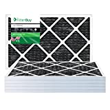 carbon activated air filter 20x20 - FilterBuy Allergen Odor Eliminator 20x25x1 MERV 8 Pleated AC Furnace Air Filter with Activated Carbon - Pack of 4-20x25x1