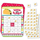 Big Dot of Happiness Taco 'Bout Fun - Bingo Cards and Markers - Mexican Fiesta Bingo Game - Set of 18