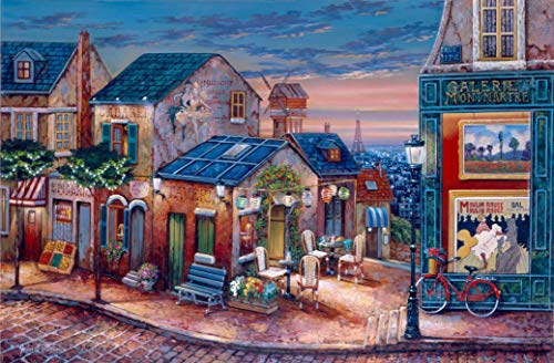 WUUNDENTOY Jigsaw Puzzle Gallery Montmartre, France 1,500 Pieces Gold Edition 12+ Years Old (2309)