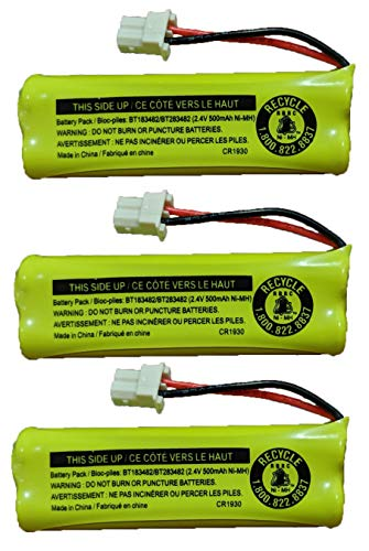 JustGreatDealz Battery BT183482 BT283482 for Vtech Cordless Telephones CS6114 CS6409 CS6419 DS6401 DS6421 DS6422 DS6423 DS6424 DS6425 DS6426 DS6472 LS6405 LS6425 LS6426 LS6475 LS6476 (3-Pack)