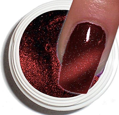 Cat Eye Gel UV 5 ml ~ ~ bordeaux/marron ~ ~ haut pouvoir couvrant –. La tendance actuelle dans de modelage de l'ongle.