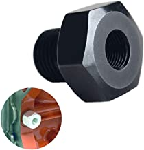 DEWHEL Black Aluminum LS Engine Swap M16 1.5 Adapter to 1/8 NPT Oil Pressure Sensor for Oil Pressure Gauge 551172 LS1 LS2 LS3 LS6 LS7 LS 4.8 5.3 5.7 6.0 Swap Fits Camaro, Firebird and More
