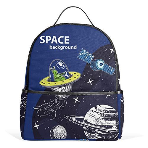 Mr.XZY Space Aliens Backpack for Boy for Girl Bookbag Backpack 2011555