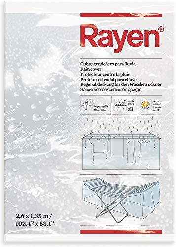 Rayen Lluvia Cubre-tendedero Impermeable | Funda Antipolvo con Aroma a limón | 260 x 135 cm, Polietileno, 2.6x2x1.35 cm