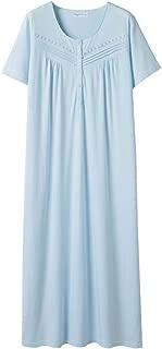 Nightgowns for Women All Cotton Short Sleeve Long Nightgowns Soft Lightweight Sleepwear Nightshirt Loungewear