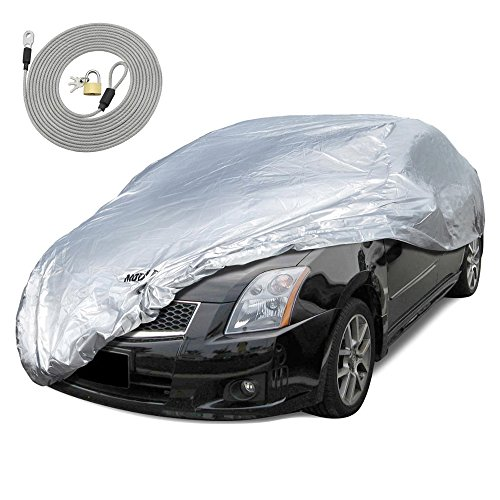"""Motor Trend All Season WeatherWear 1-Poly Layer Snow Proof, Water Resistant Car Cover Size S - Fits up to 157"""""""