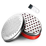 Cheese Grater with Food Storage Container and Lid Vegetable Chopper,Perfect for Hard Parmesan or Soft Cheddar Cheeses, Vegetables, Chocolate(red)