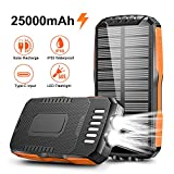Solar Charger, STOON 25000mAh Solar Power Bank with Dual...