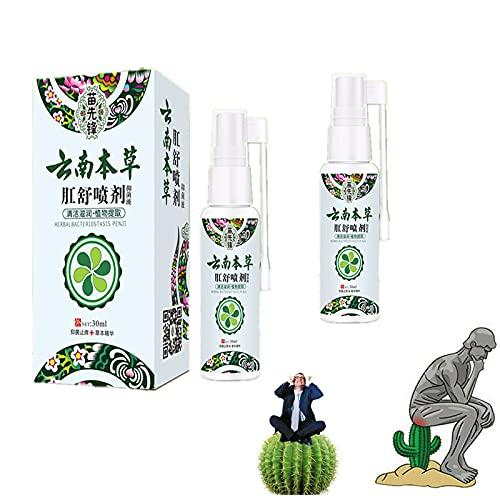2pcsNatural Herbal Aambeien Spray, Snelle verlichting van aambeien en anale fissures,100% natuurlijke formule, verlichten pijn, jeuk, branden, natuurlijke immuunondersteuning, voor interne & externe (A)