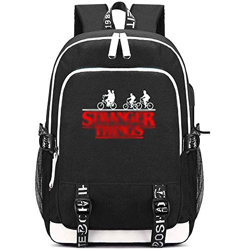 School Bag, Backpack USB Charging Port, Large Capacity Oxford Backpack Oxford Boardbag Gifts for Student of Necklace