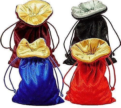 mejor calidad mejor precio Tarojo Rune Lined Lined Lined Velvet Bag Bundle of 4  negro plata, rojo oro, Wine oro, and Royal azul oro by MorGoods  alto descuento