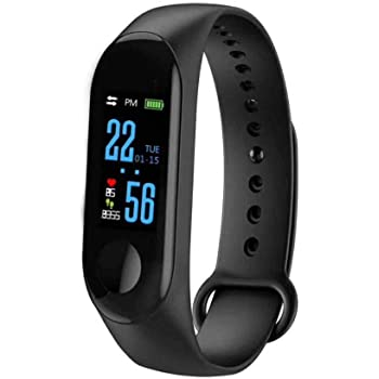 SHOPTOSHOP STM4 Smart Band Fitness Tracker Watch with Heart Rate, Activity Tracker Waterproof Body Functions Like Steps Counter, Calorie Counter, Blood Pressure, Heart Rate Monitor LED Touchscreen (Black)