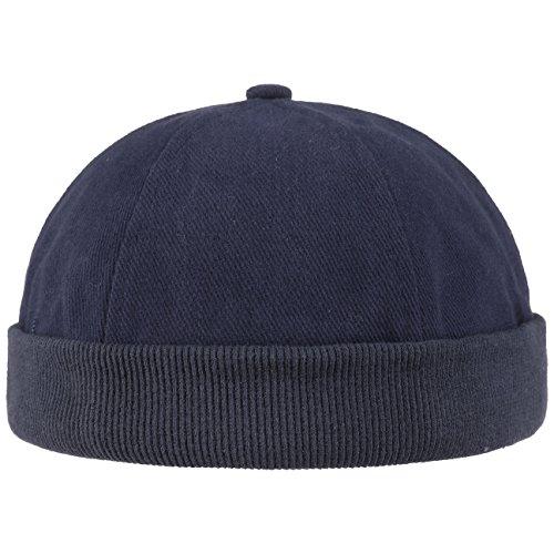 Hutshopping Cotton Dockercap Herren | Mütze aus 100% Baumwolle | Docker in Einheitsgröße (54-61 cm) | Cap mit Klettverschluss | Hafenmütze in Verschiedenen Farben | ganzjährig Tragbar, Blau, Einheitsgröße