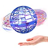 Flying Ball Toys,Boomerang Ball ,TESIMAI Globe Shape Magic Controller Mini Drone Flying Toy, Built-in RGB Lights Spinner 360° Rotating Spinning UFO Safe for Kids Adults Indoor Outdoor