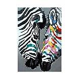 enpingan Zebra Poster Tier Bild Wandkunst Bilder Leinwand