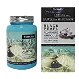 Farm stay Black Pearl All In One Ampoule 250ml[8.45Oz]Anti-Wrinkle, Whitening,All Skin Types