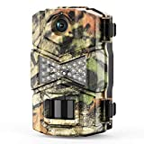 WOSODA Trail Game Camera, 16MP 1080P Waterproof Hunting Scouting Cam for Wildlife Monitoring with Night Vision LY123