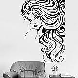 hetingyue Nouveau Design Papier Peint Salon Fille lèvres Vinyle Autocollant Mural intérieur Longs Cils Gros Plan Mural beauté fenêtre décalcomanie Chaude 42x59 cm