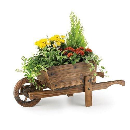 Rustic Garden Supplies BAR5/B Deko-Pflanzkasten in Form eines Schubkarrens