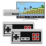 FASD Home Mini Game Console USB Wireless Mini Game Console Pro Wireless Doubles Game Console 2 clásicos Controladores Felices Recuerdos de la Infancia