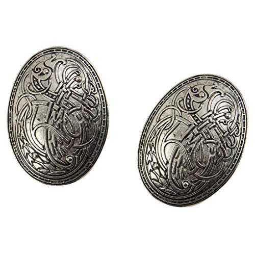 dream cosplay Viking Tortuga Broches Norse Vestido Delantal Pasadores,Plateado