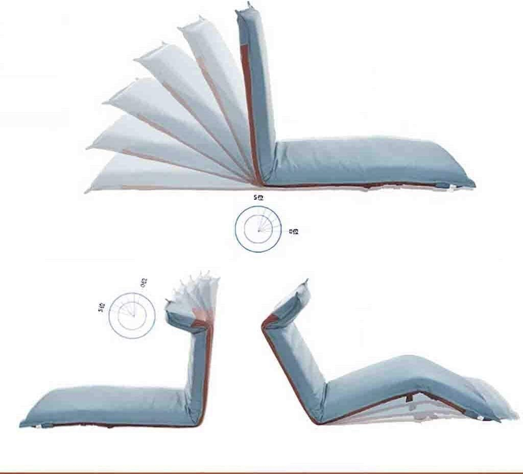 HLR Chaise de méditation Chaise pour Yoga Chaise Portable Chaise Longue Fauteuil inclinable Pliant Canapé Fauteuil Chaise Pliante Pause déjeuner Chaise de Plancher (Color : D) D
