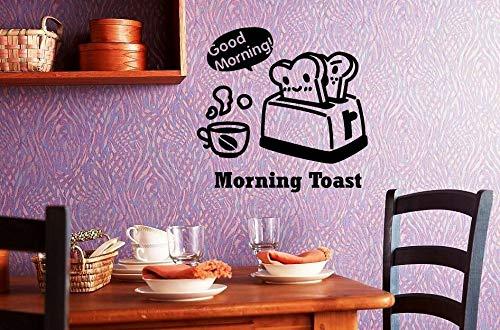 Pegatinas de pared vinilo adhesivo positivo decoración cocina buena mañana tostadora