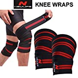 Neulife Knee wrap -competion Grade-Pack of2-Polyester Knee Support for All Sports Activities.Length 2