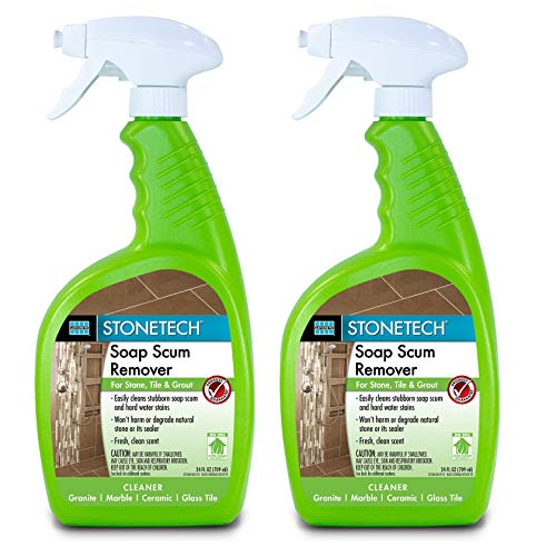 StoneTech Soap Scum Remover, Cleaner for Natural Stone, 24-Ounce (.710L) Spray Bottle (2 Quart pack)