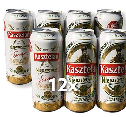 12 x 500 ml Dose Kasztelan Pils, der einzigartige Geschmack aus Polen Piwo