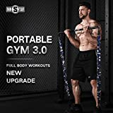 INNSTAR Resistance Bands Bar Exercise Bands Attachment 38' Black Max Load 800lb for Home Gym Workout Full Body Workout Power Lifting Fitness Bar (Portable Gym 3.0- Camo Green)