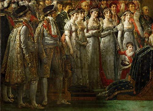 David Jacques Louis La coronación del Emperador Napoleón I Bonaparte Rompecabezas Juguete de Madera Adulto Familia Amigo DIY Challenge Decoración de Pared 1000 Piezas