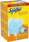 Swiffer Duster Plumeau Poussière Kit Attrape & Retient, Kit 1 Manche et 15 Recharges, Attrape Et Retient Jusqu'À 3 Fois Plus De Cheveux Et Poussière Qu'Un Plumeau Ordinaire